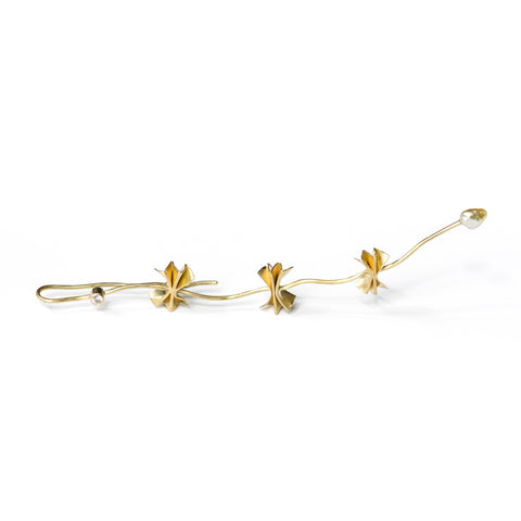 Josephine Bergsøe 'Dragon' Pearl, 18ct & 22ct Yellow Gold Diamond Earring
