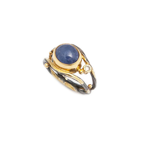 Josephine Bergsoe Seafire Ring With Blue Sapphire