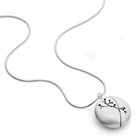 Kate Smith Satin Finish Charm Silver Necklace