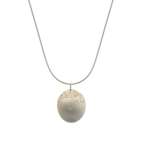 Kate Smith Domed Silver Necklace