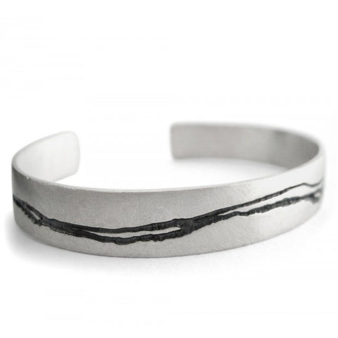 Kate Smith Oxidized Etch Silver Bracelet