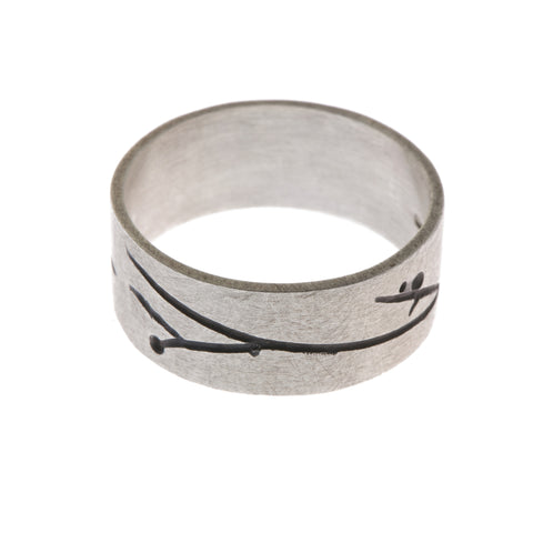 Kate Smith Oxidized Inlay Silver Ring