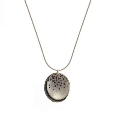 Kate Smith Pierced Oxidized Silver Necklace