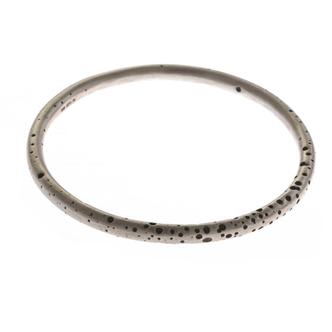 Kate Smith Round Oxidized Spot Silver Bracelet