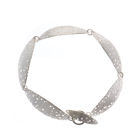 Kate Smith Satin Curved Silver Bracelet