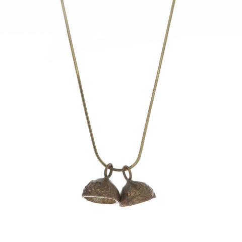 Kathleen Holland Acorn 2 Seed 9ct Yellow Gold Necklace