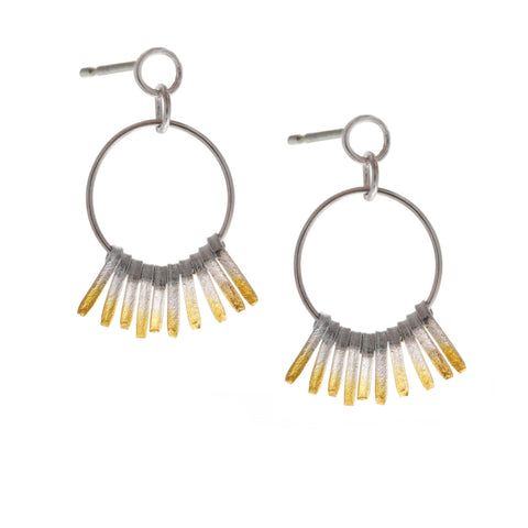 Kokino Shimmer Hoop Yellow Gold Plated Silver Earrings