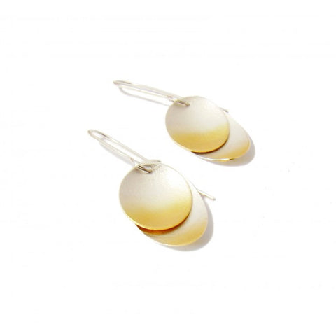 Kokino 'Electra' Double Gold Plated Silver Earrings