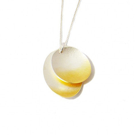Kokkino Electra Double Layer Yellow Gold Plated Silver Necklace