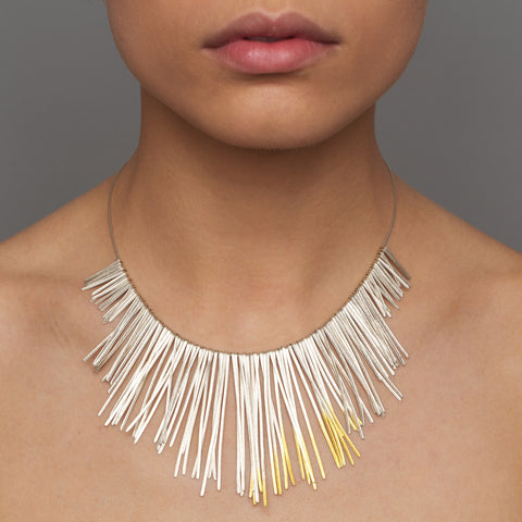 Kokkino Shimmer Extra Large 24ct Yellow Gold Plated Silver Necklace