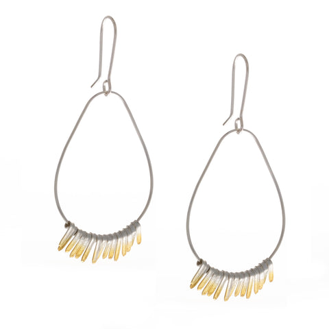 Kokkino Shimmer Hoop 24ct Yellow Gold Plated Silver Earrings