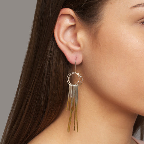 Kokkino Shimmer Multi Yellow Gold Plated Silver Earrings