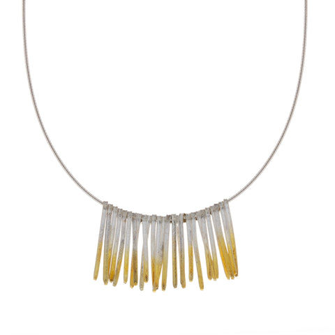 Kokkino Shimmer Short Fringe 24ct Yellow Gold Plated Silver Necklace