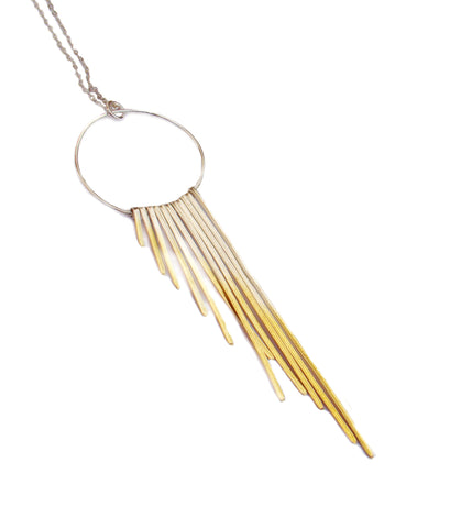 Kokkino 'Shimmer' Feather 24ct Yellow Gold Plated Silver Necklace
