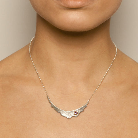 Martina Hamilton Medium Barnacle Rose Gold Silver Necklace