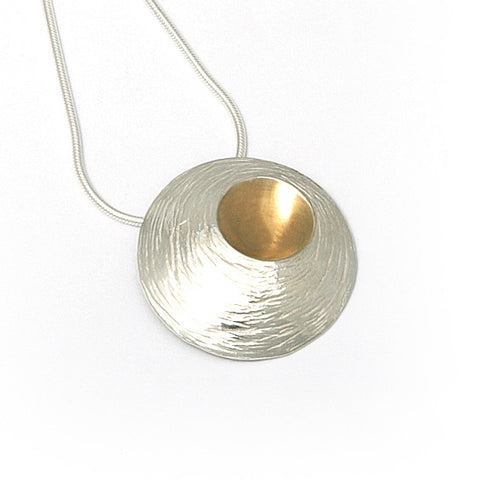 Martina Hamilton Large Oyster Yellow Gold Plated Silver Necklace