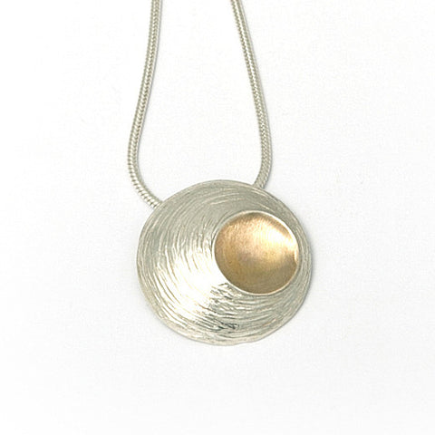 Martina Hamilton Medium Oyster Yellow Gold Plated Silver Necklace