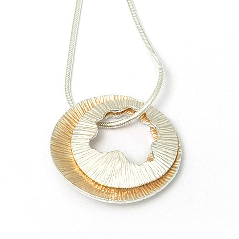 Martina Hamilton Medium Shell Yellow Gold Plated Silver Necklace