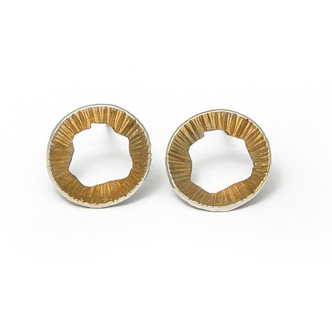 Martina Hamilton Single Shell Yellow Gold Plated Silver Earrings