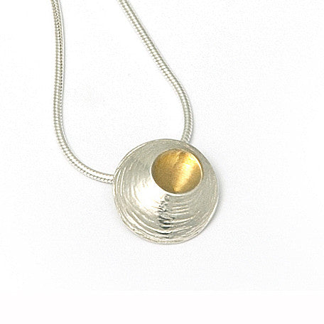 Martina Hamilton Small Oyster Yellow Gold Plated Silver Necklace