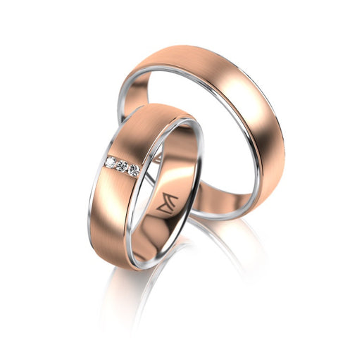 Meister 18ct Rose and White Gold Ring