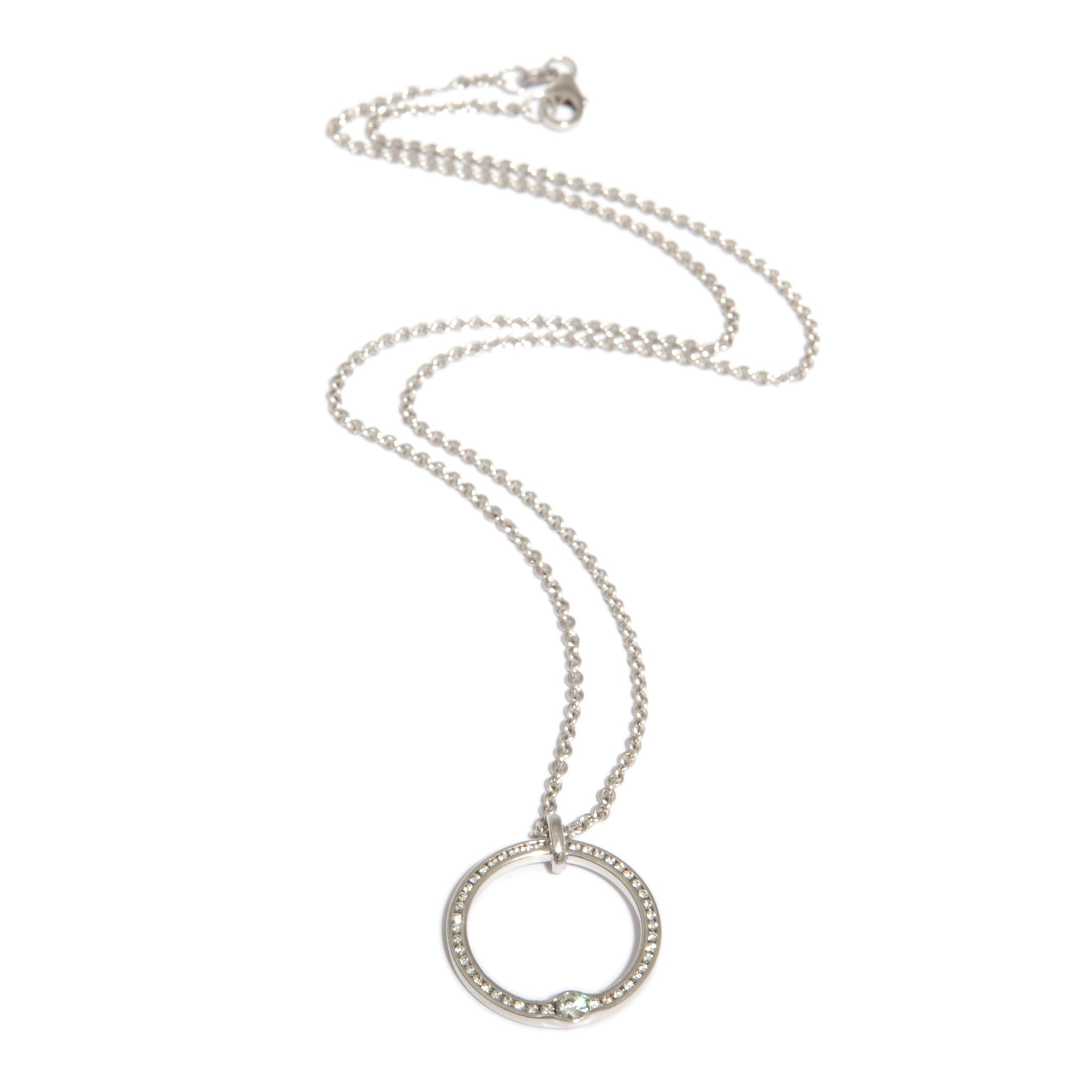 open of products necklace oyster triple gallery bay jewelry diamond the circle