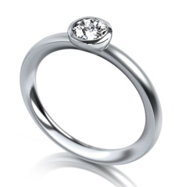 Meister Platinum Solitaire Diamond Ring