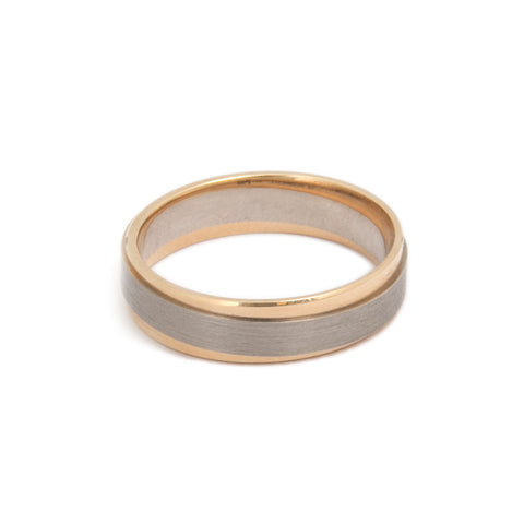 Meister Twinset 18ct White & Rose Gold Ring