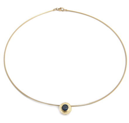 Mia Mullen Blue Sapphire & Diamond 18ct & 9ct Yellow Gold Necklace