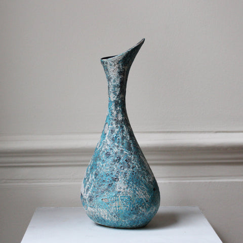 Michele Hannan 'Volcanic' Blue Vase Sculpture