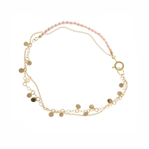 Miriam Oude Vrielink Freshwater Pearls 14ct Yellow Gold Bracelet