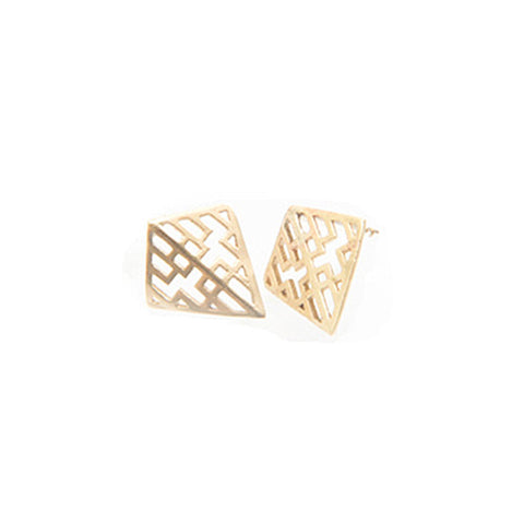 Miriam Wade Auriga Stud 9ct Yellow Gold Earrings