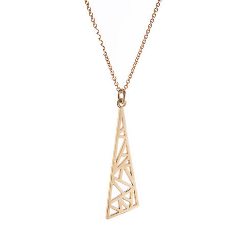 Miriam Wade Flare 9ct Yellow Gold Necklace
