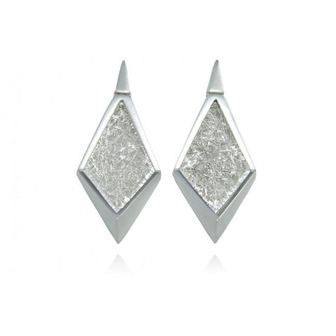 Neasa O'Brien 'Angular' Small (46mm) Silver Earrings