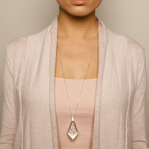 Neasa O'Brien 'Angular' Silver Necklace