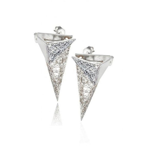 Neasa O'Brien 'La Gabbia' Silver Earrings