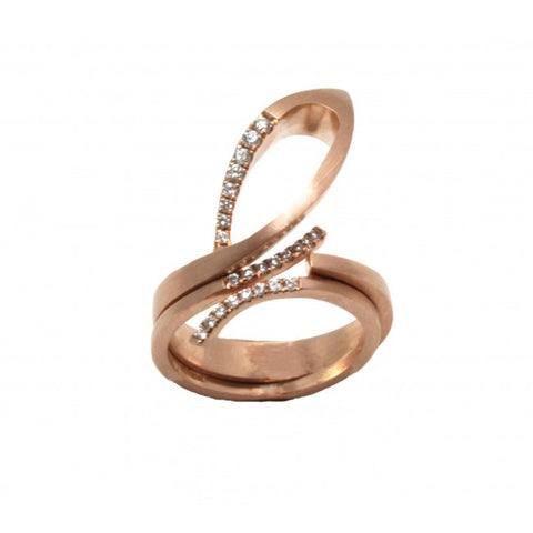 Neasa O'Brien Occhio 9ct Rose Gold Diamond Rings