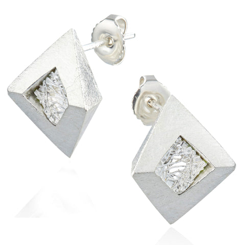 Neasa O Brien Perspective Silver Earrings