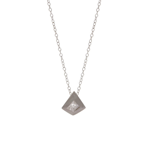 Neasa O Brien Perspective Silver Necklace