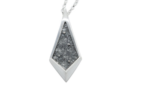 Neasa O'Brien Angular Silver Diamond Pendant