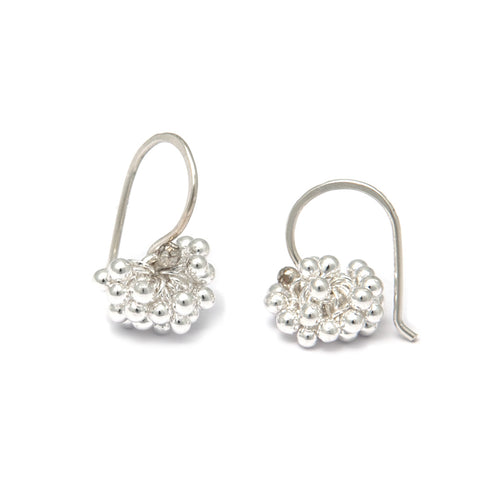 Neeltje Salter Bubble Cluster Hook Silver Earrings
