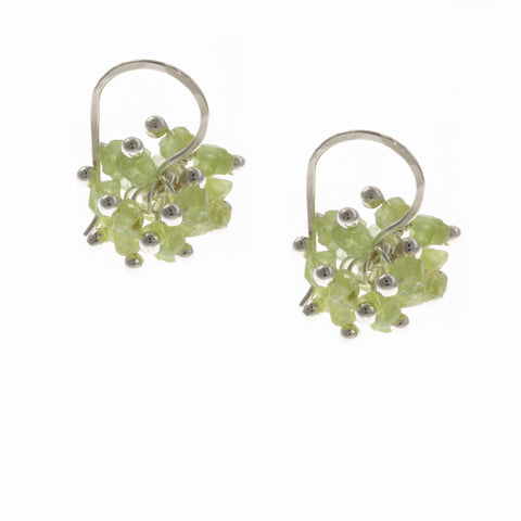 Neeltje Slater Peridot Silver Earrings