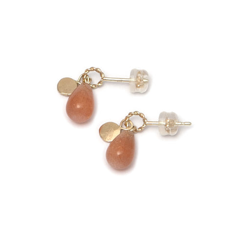 Neeltje Salter Sunstone Drop 14ct Yellow Gold Earrings