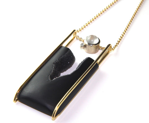 Nicole Van Der Wolf Midnight Snow 18ct Yellow Gold Necklace