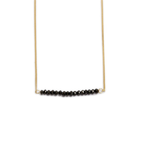 Nicole Van Der Wolf Phosphorescence Line Black Diamond 18ct Yellow Gold Necklace