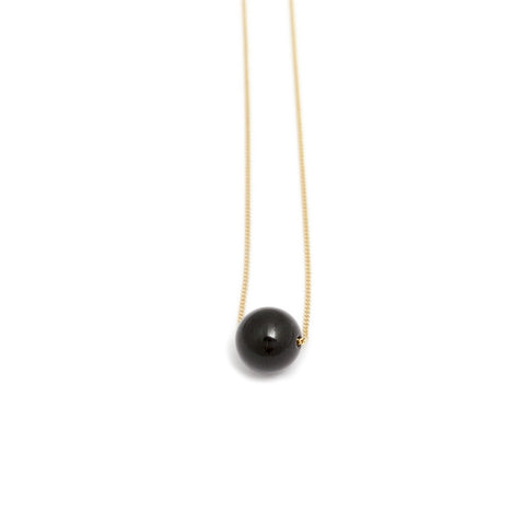 Cole & Wolfe 'Solo' Black Onyx 9ct Yellow Gold Necklace