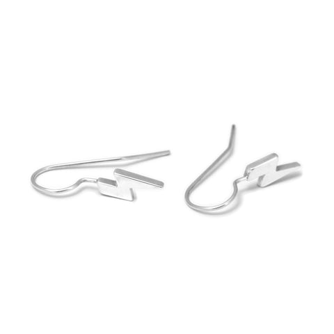 Cole & Wolfe 'Sunny Spells' Lightning Bolt Hook Silver Earrings