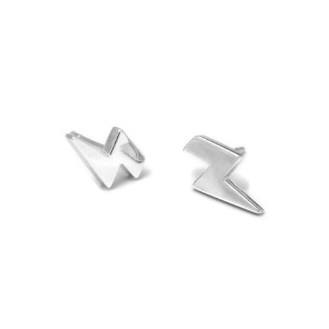 Nicole Van Der Wolf Sunny Spells Lightning Bolt Stud Silver Earrings