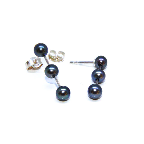 Parsprototo 'Estelle' Drop Pearl Silver Stainless Steel Earrings