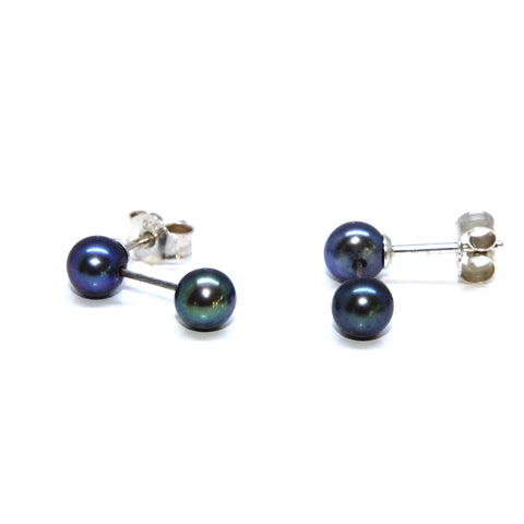Parsprototo 'Estelle' No. 2 Drop Pearl Silver Stainless Steel Earrings